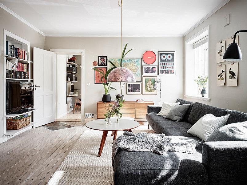 3 nguyên tắc vàng khi sơn màu phòng khách